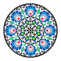 Polish traditional folk pattern in circle