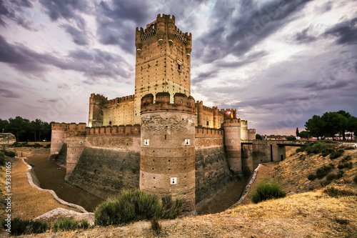 Castillo de la Mota, famous old castle in Valladolid, Spain.