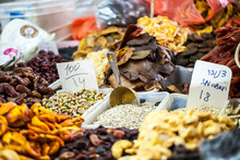 Dried Fruits On Display At A M...