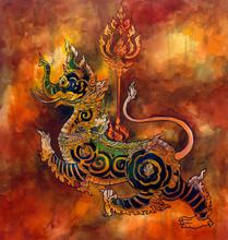 Thai Mythology Lion Sigha Pain...