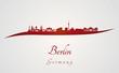 Berlin skyline in red