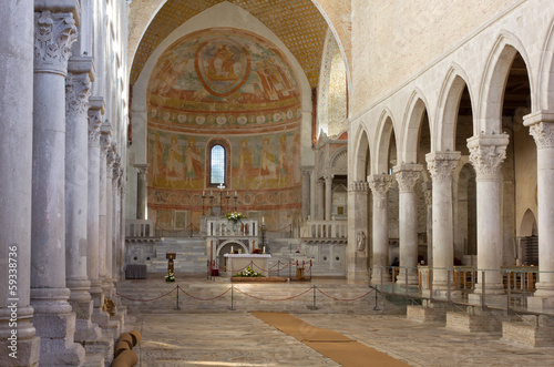 Interior of the Basilica of Aquileia, Italy Wallpaper Mural