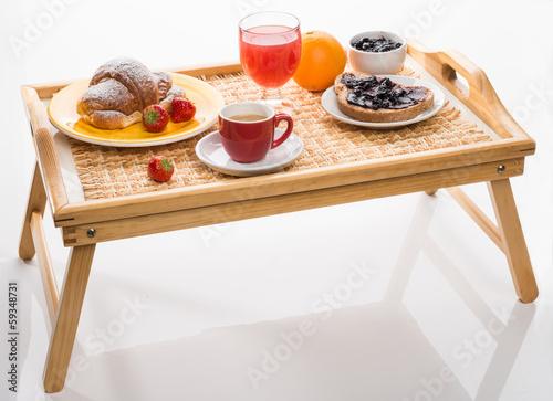 Obraz na dibondzie (fotoboard) Śniadanie na tacy