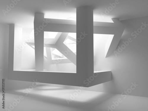 wnetrze-bialego-pokoju-z-abstrakcyjna-konstrukcja-kostek-w-rogach