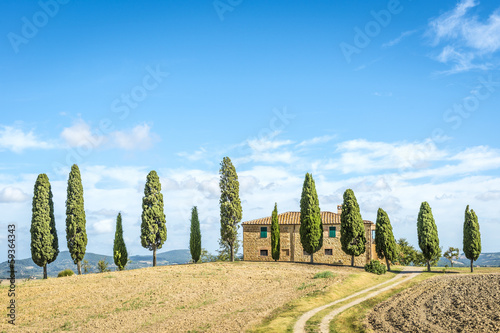 Deurstickers Toscane Typical Tuscany house