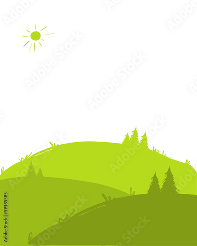 Green hills, landscape for your design