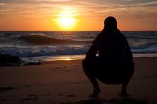 Man Looking To The Horizon At ...