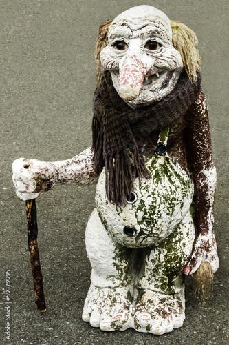 Photo  Troll figure isolated, Norway