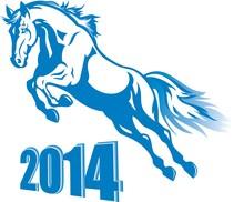 Prancing Blue Horse