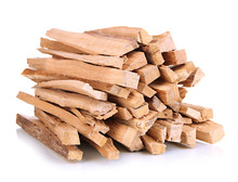 Stack Of Firewood Isolated On White