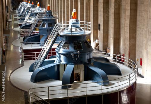 Billede på lærred Hoover Dam Powerhouse Generators