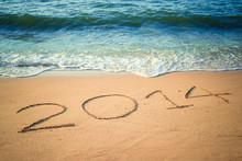 Writing Happy New Year's 2014 ...