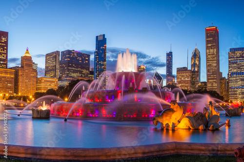 Poster Chicago Buckingham fountain