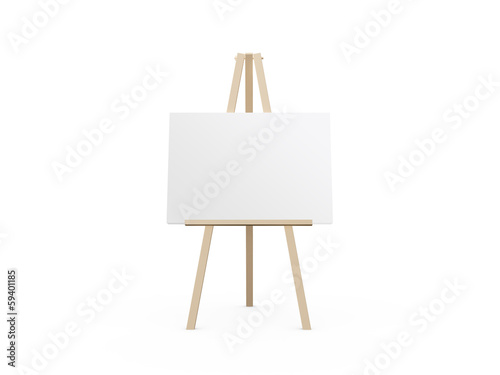 Photo  Easel with White Canvas