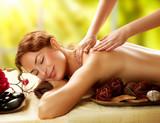 Spa. Beautiful Woman in Spa Salon getting Massage