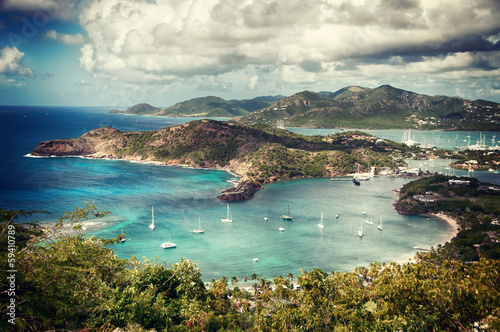 Foto-Kissen - Falmouth bay - View from Shirley Heigths, Antigua