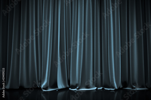 Photo curtain in a theater