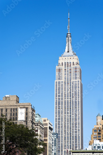The Empire State Building shines in the afternoon Poster