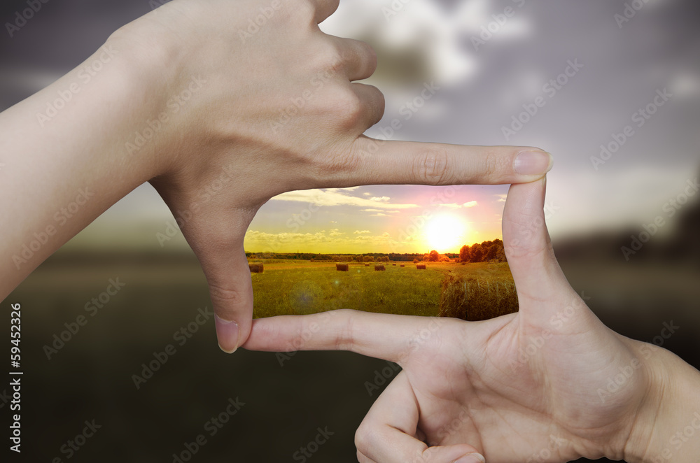 Fototapeta clear vision of a sunset