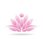 Vector Logo Lotus Person
