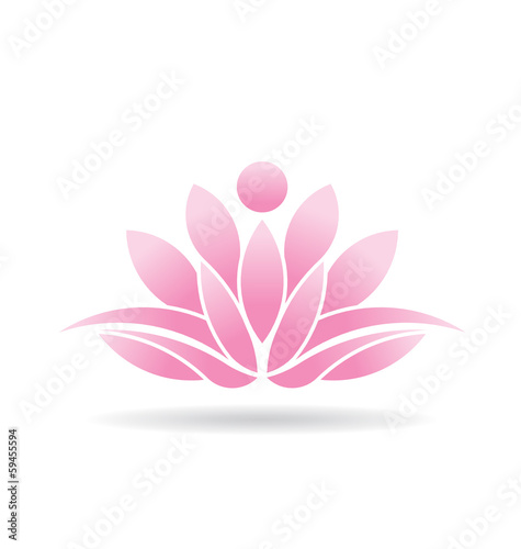 Photographie  Vector Logo Lotus Person