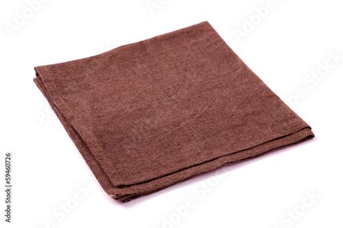 Fotografie, Obraz  Brown rough napkin isolated