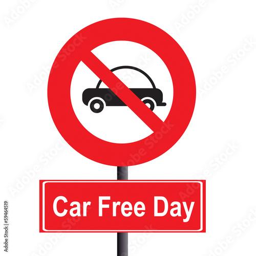 Fotografie, Obraz  car free day