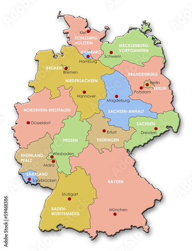 Map Of Germany With States.Map Of Germany States Capitals Buy This Stock Illustration And