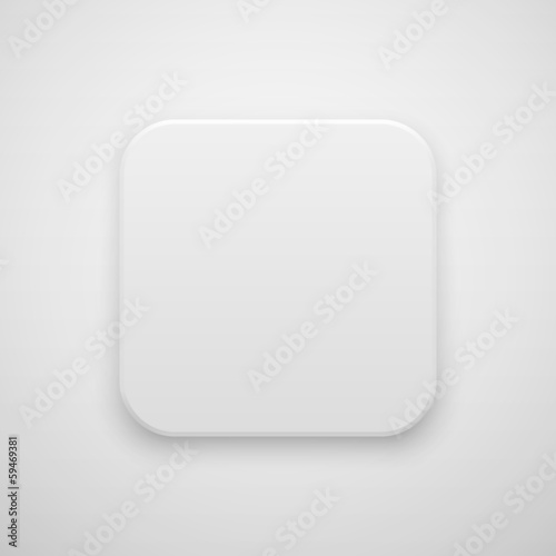 White Abstract Blank App Icon Button Template - Buy this stock ...