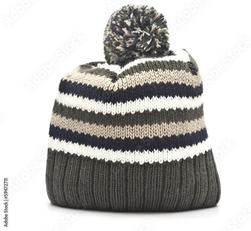 Obraz na plátně Wool hat on white background