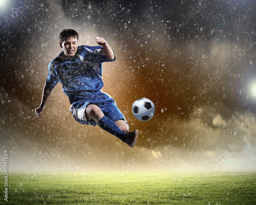 Tuinposter Voetbal Football player