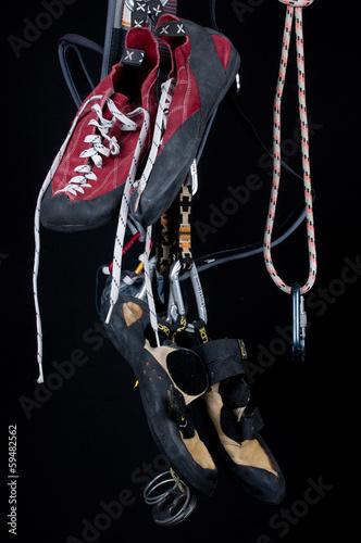 Foto op Canvas Alpinisme arrampicata sportiva