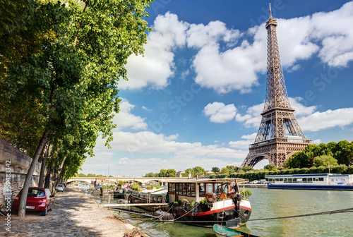 Spoed Foto op Canvas Parijs The River Seine in Paris