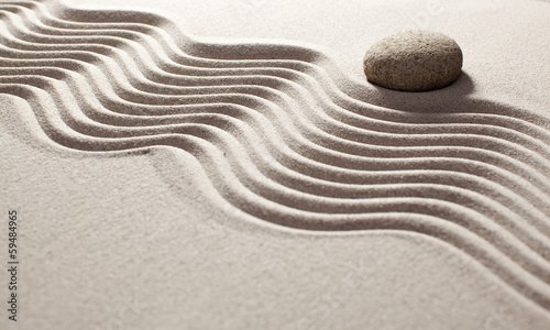 Acrylic Prints Stones in Sand contemplation for zen mindset