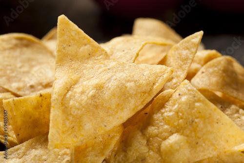Fotografie, Obraz  Brown Corn Tortilla Chips