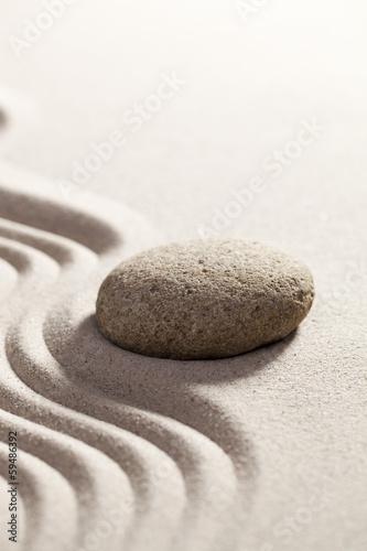 Foto op Plexiglas Stenen in het Zand calming reflection for zen progression