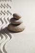 zen silence in sand