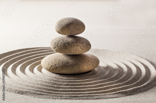 Acrylic Prints Stones in Sand natural balance