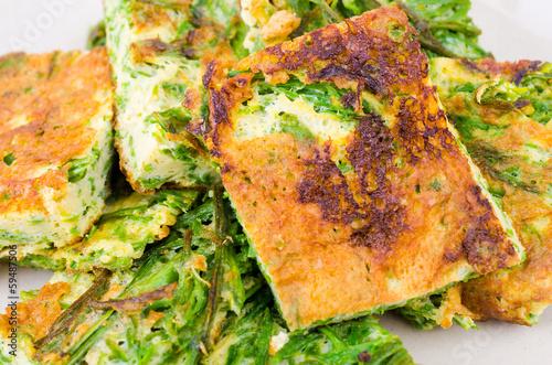 Foto auf AluDibond Weinlese-Plakat Omelet