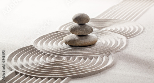 Acrylic Prints Stones in Sand concept of pampering with meditation
