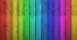 Fototapeta Tęcza - Rainbow Colors On Wooden Background