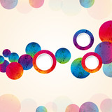 abstract design tech circles background.