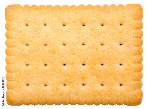 Stampa su Tela Milk Biscuit Texture Closeup Details Isolated On White