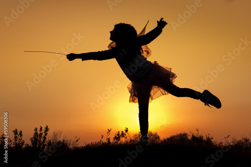 Fotografie, Tablou  Little fairy silhouette