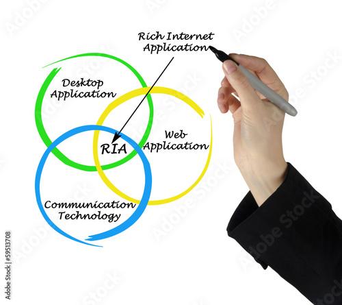 Diagram of rich internet application Wallpaper Mural