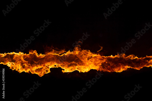 Canvas Prints Fire / Flame Blazing flames on black background