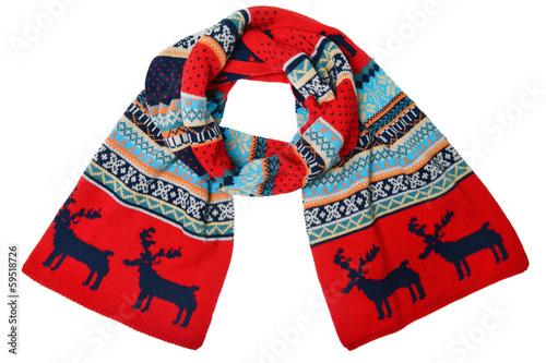 Cuadros en Lienzo woolen knitted scarf with the Scandinavian pattern