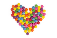 Heart Made Of Colored Smarties