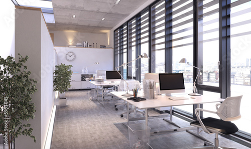 Modernes Buro Modern Office Buy This Stock Illustration And