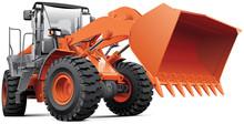 Orange Front-end Loader